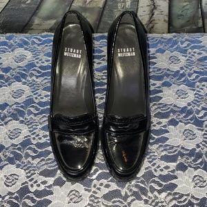 Stuart Weitzman Patent Penny Loafer Heels 8